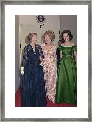 Julie Nixon Eisenhower Framed Print by Everett