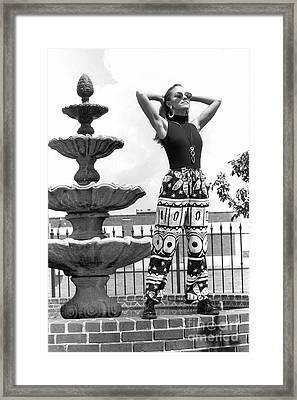 Julieartfountain Framed Print by Gary Gingrich Galleries