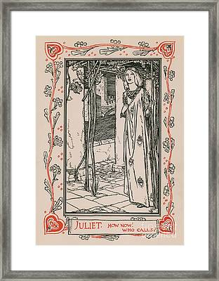 Juliet From Romeo And Juliet Framed Print by Robert Anning Bell