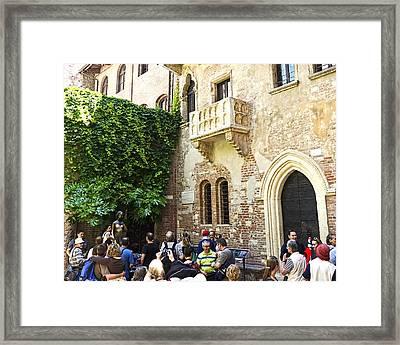 Juliet's Balconey - Verona Italy Framed Print
