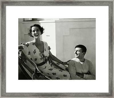 Juliette Crosby Hornblow And Arthur Hornblow Framed Print by Edward Steichen