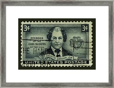 Girl Scouts Founder Juliette Gordon Low Postage Stamp Framed Print