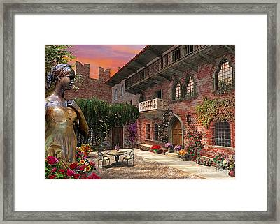 Juliette's Verona Framed Print by Dominic Davison