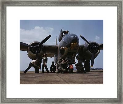 July 1942 - Servicing An A-20 Bomber Framed Print