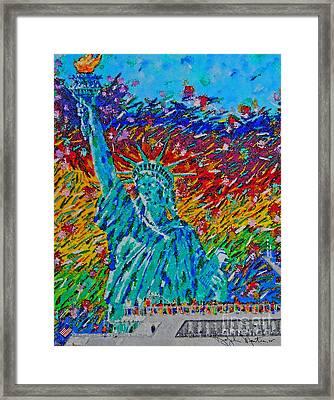 July 4 Celebration  Framed Print