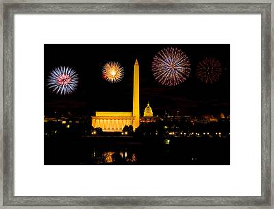 July 4th In Washington - Sydney Tran Framed Print by Sydney Tran