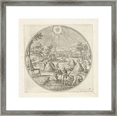 July, Adriaen Collaert, Hans Bol Framed Print by Adriaen Collaert And Hans Bol And Claes Jansz. Visscher (ii)