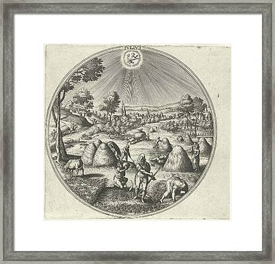 July, Adriaen Collaert, Hans Bol, Hans Van Luyck Framed Print by Adriaen Collaert And Hans Bol And Hans Van Luyck