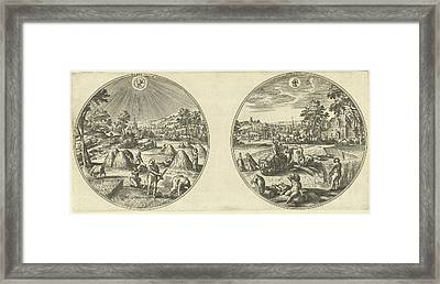 July And August, Adriaen Collaert, Hans Bol Framed Print by Adriaen Collaert And Hans Bol And Hans Van Luyck