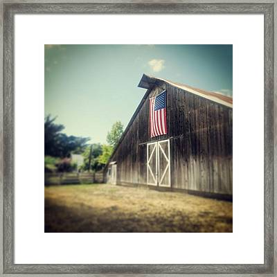 July Barn Framed Print by Melissa Broughton