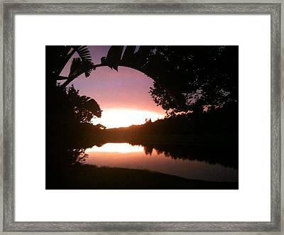 July Florida Sunset Framed Print