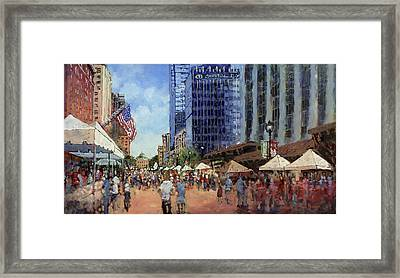 July Fourth In The Capital Framed Print by Dan Nelson