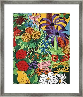 July Garden Framed Print by Rojax Art