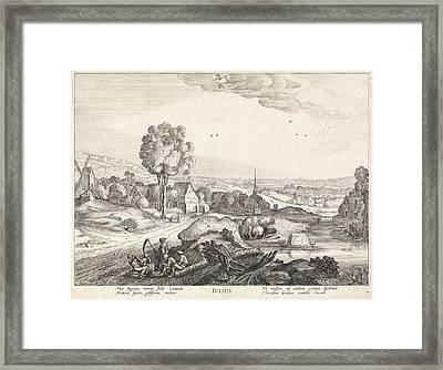 July, Jan Van De Velde II Framed Print