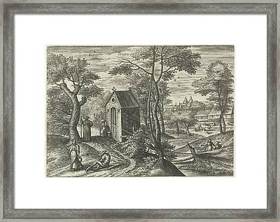 July, Julius Goltzius, Gillis Mostaert Framed Print by Julius Goltzius And Gillis Mostaert (i) And Hans Van Luyck
