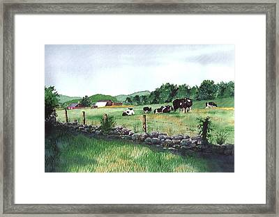 July Morning Eastern Connecticut Framed Print