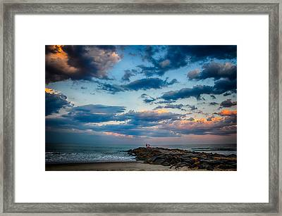 July Sky Framed Print by Kristopher Schoenleber