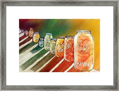 July's Harvest Framed Print by Starr Weems