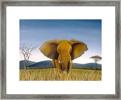 Jumbo Framed Print by Hilton Mwakima