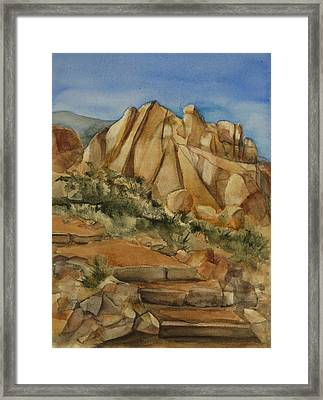 Jumbo Rocks At Joshua Tree Framed Print