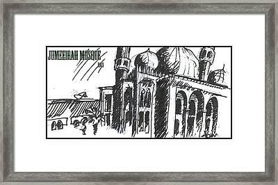 Jumeirah Majid Framed Print by Razi P