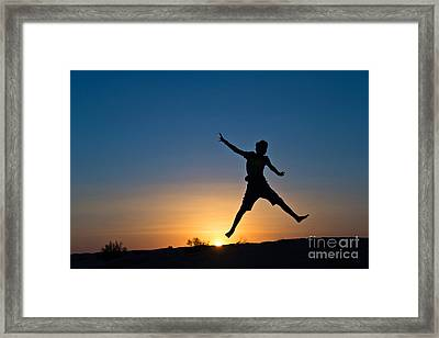 Jump Framed Print by Delphimages Photo Creations