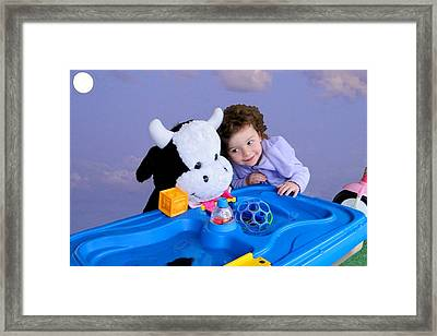 Framed Print featuring the photograph Jump Encouragement by Nick David