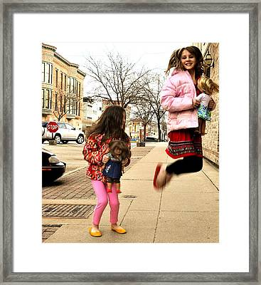 Jump For Joy Framed Print by Jon Van Gilder