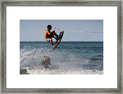 Jump Framed Print by Francesco Zappala