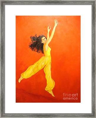 Jump In The Air Framed Print