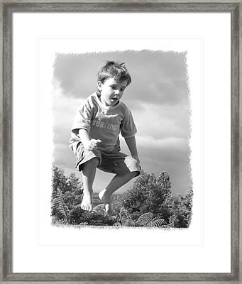 Jump Framed Print by Wynn Davis-Shanks
