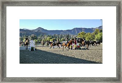 Jumper Competition Time Lapse Framed Print by Kevin Garrett