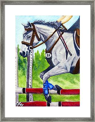 Jumper Round Framed Print