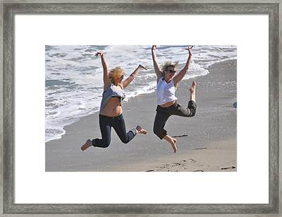 Jumpers At La Jolla Cove Framed Print by Pamela Schreckengost