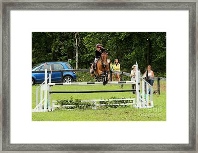 Jumping Eventer Framed Print