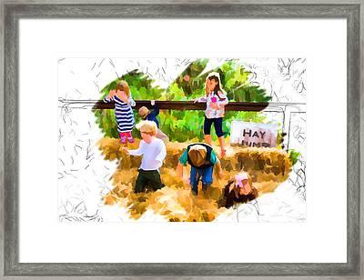 Jumping For Joy Framed Print