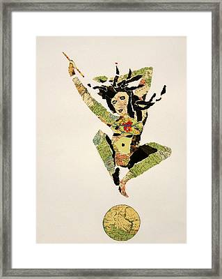 Jumping From The World With Joy Framed Print