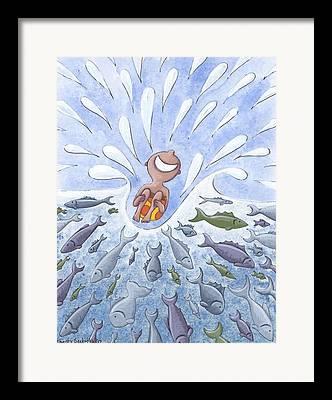 Swimming Fish Framed Prints