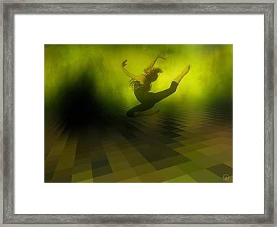 Jumping In Framed Print by Gun Legler