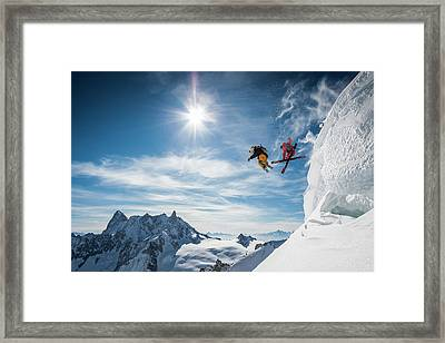 Jumping Legends Framed Print by Tristan Shu