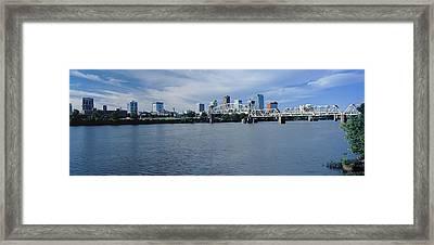Junction Bridge Over Arkansas River Framed Print