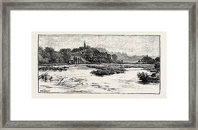 Junction Of The Trent And The Dove Framed Print by English School