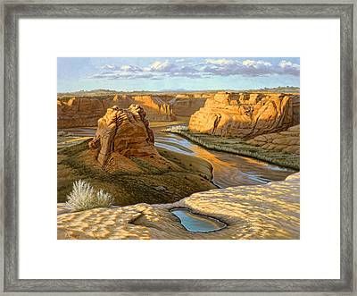 Junction Overlook - Canyon Dechelly Framed Print by Paul Krapf
