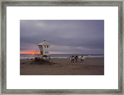 June Gloom At Mission Beach Framed Print by Scott Campbell