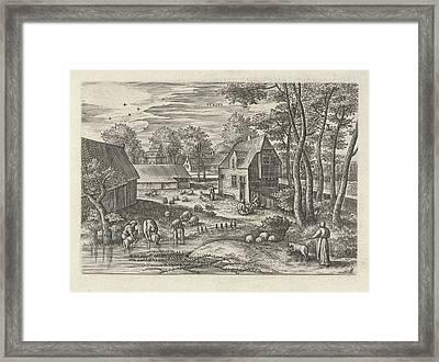 June, Julius Goltzius, Gillis Mostaert Framed Print by Julius Goltzius And Gillis Mostaert (i) And Claes Jansz. Visscher (ii)