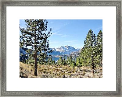 Framed Print featuring the photograph June Lake by Marilyn Diaz
