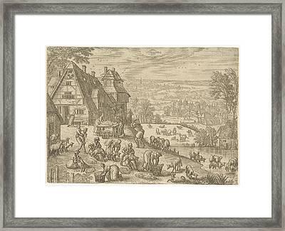 June, Pieter Van Der Borcht Framed Print