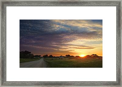 June Sky Osage County Framed Print