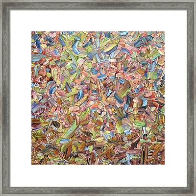 Framed Print featuring the painting June - Square by James W Johnson