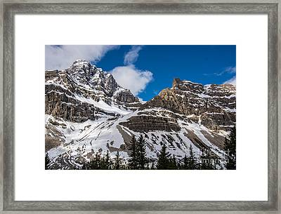 June Sun On Snow-capped Canadian Rockies Framed Print